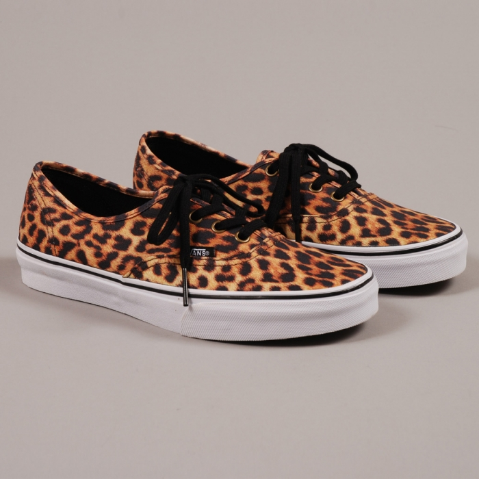 Vans Authentic Leopard - Black/Brown (Image 1)