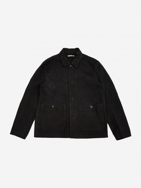 Archive Box Shirt - Black Suede