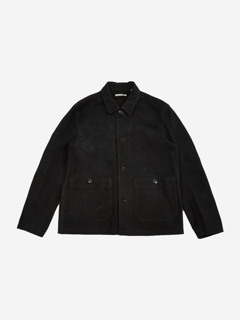 68a566fcd71fe Our Legacy Archive Box Shirt - Black Suede (Image 1)