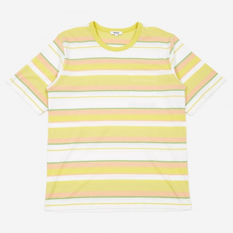 Tres Bien Striped Volume T-Shirt - Lime