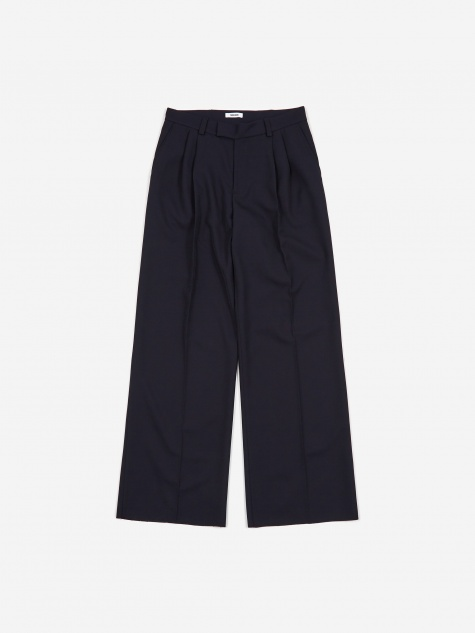 Tres Bien Tropical Volume Trouser - Dark Blue