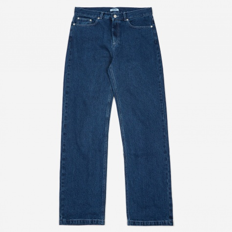 Tres Bien 5 Pocket Loose Washed Jeans - Indigo