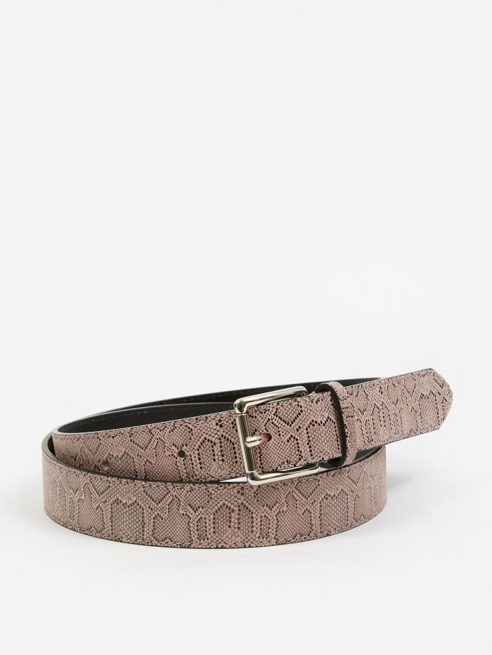 Très Bien Tres Bien Snake Leather Belt - Light Pink (Image 1)