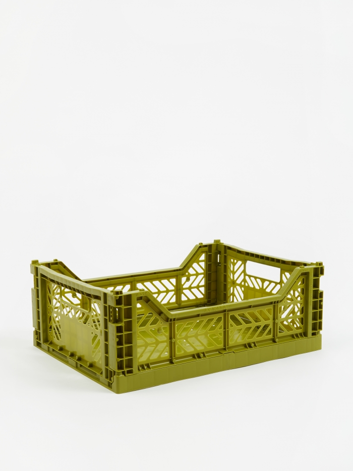 HAY Colour Crate Medium - Olive (Image 1)