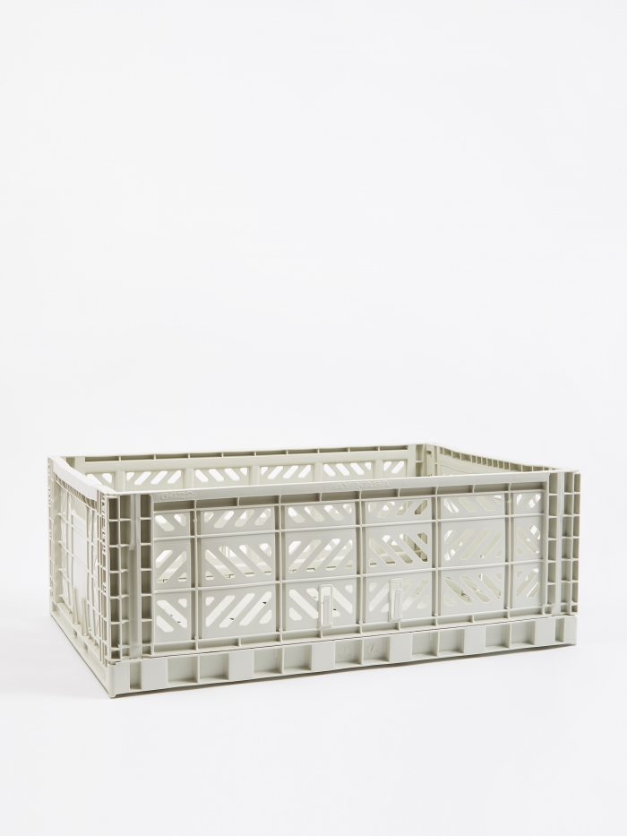 HAY Colour Crate Large - Light Grey (Image 1)