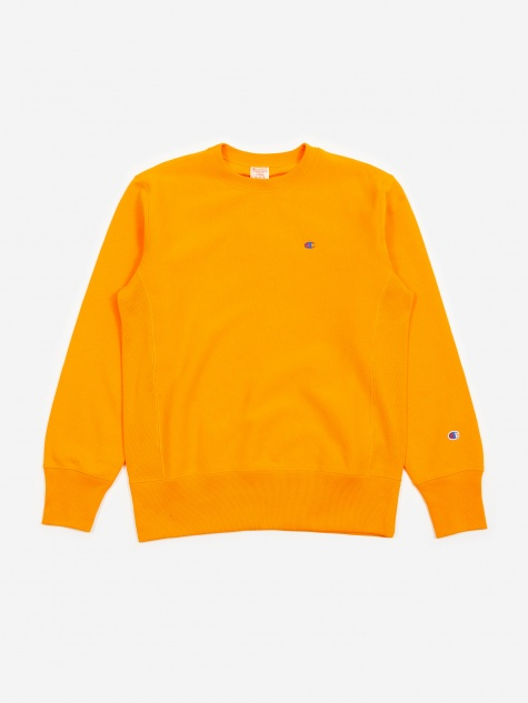 Reverse Weave Crewneck Sweatshirt - Orange
