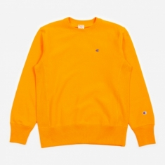 Champion Reverse Weave Crewneck Sweatshirt - Orange
