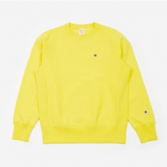 Champion Reverse Weave Crewneck Sweatshirt - Yellow