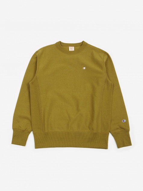 Reverse Weave Crewneck Sweatshirt - Earth Green