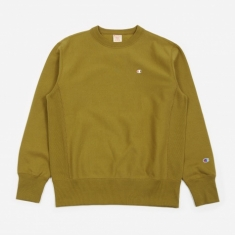 Champion Reverse Weave Crewneck Sweatshirt - Earth Green