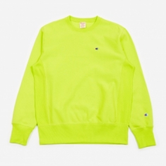 Champion Reverse Weave Crewneck Sweatshirt - Lime