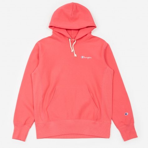 Reverse Weave Hooded Sweatshirt - Pink