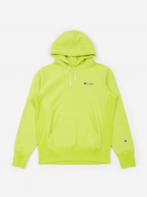 Reverse Weave Hooded Sweatshirt - Lime