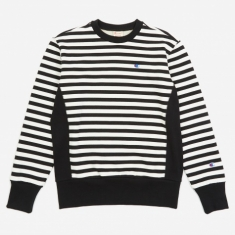 Champion Reverse Weave Crewneck Sweatshirt - Black/White