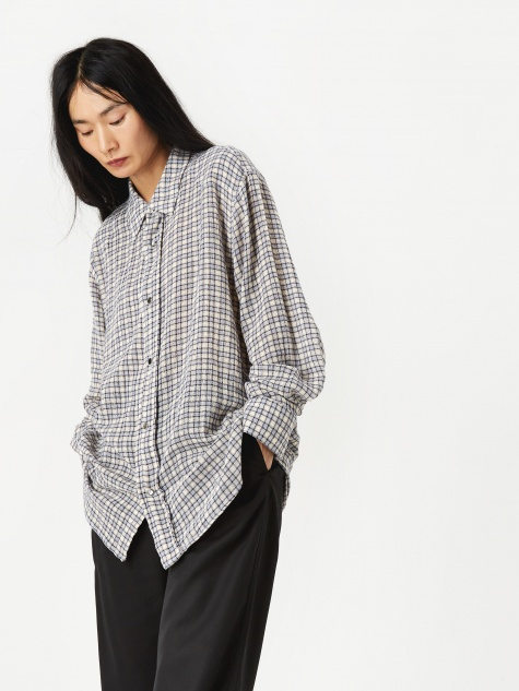 Fine Frontier Shirt - Blue/White Net Check