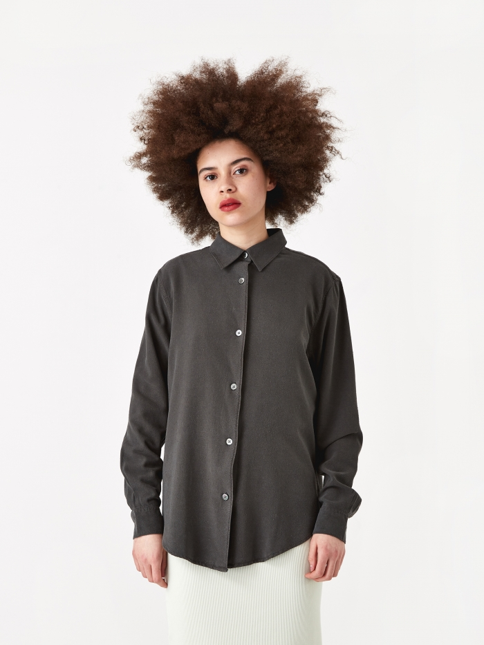 Our Legacy Line Shirt - Forest Black (Image 1)