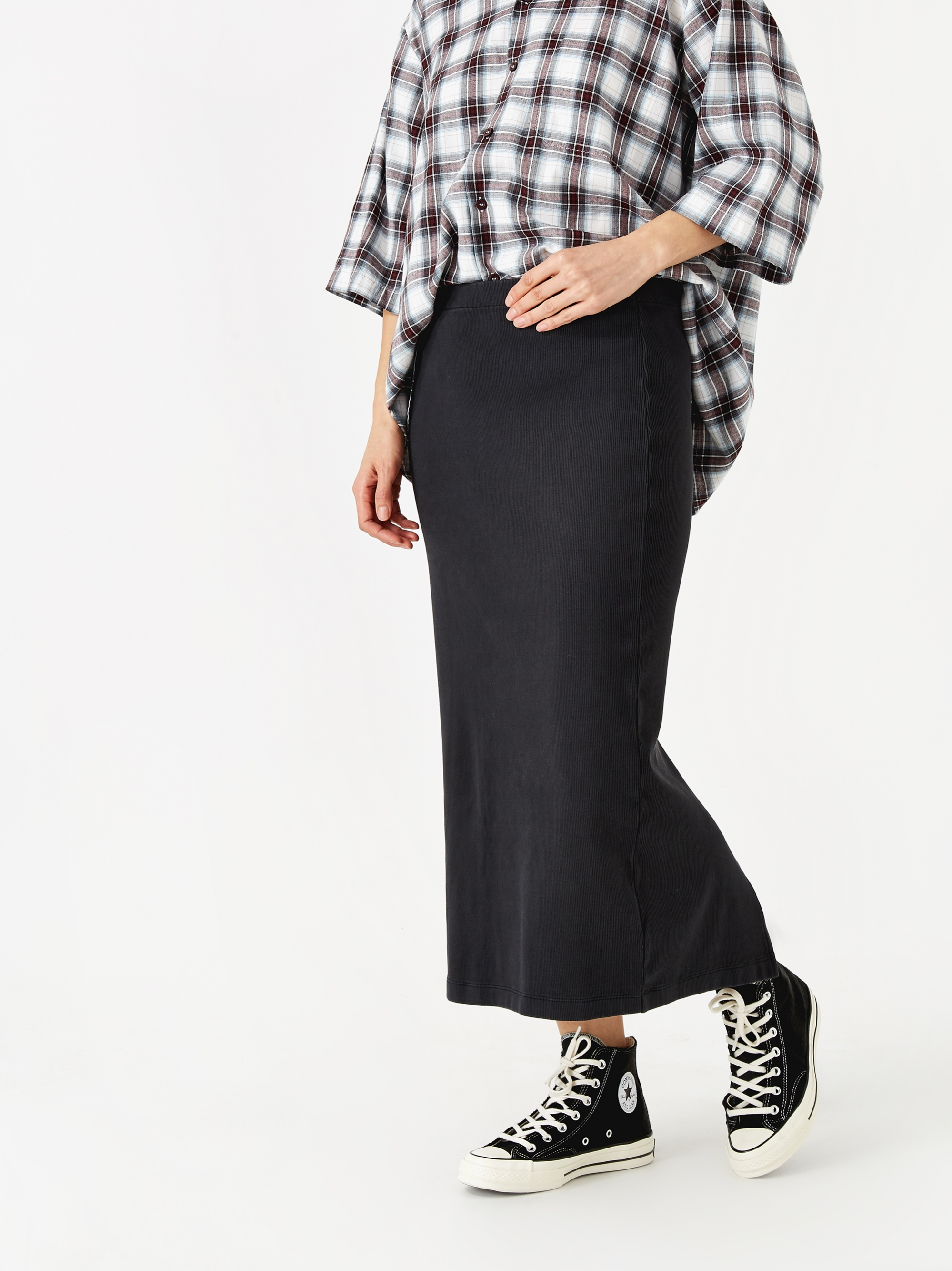 b3f1e4c609 Our Legacy Rib Tube Skirt - Anthracite
