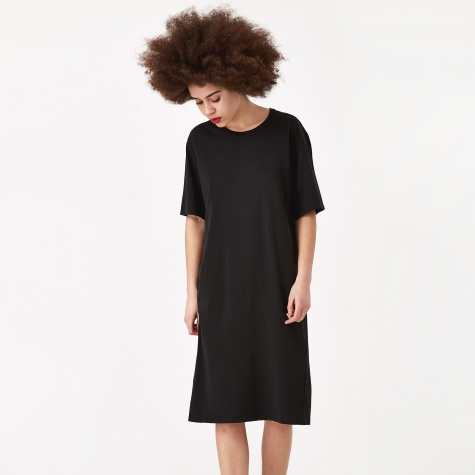 Mid T-Shirt Dress - Black