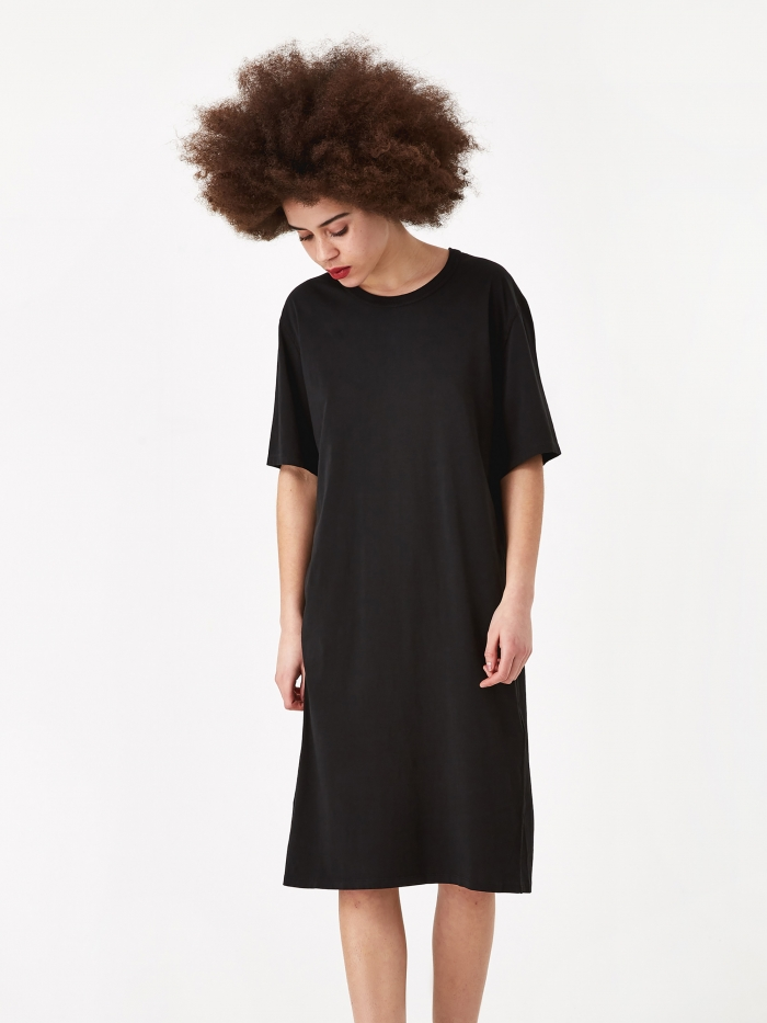 Our Legacy Mid T-Shirt Dress - Black (Image 1)