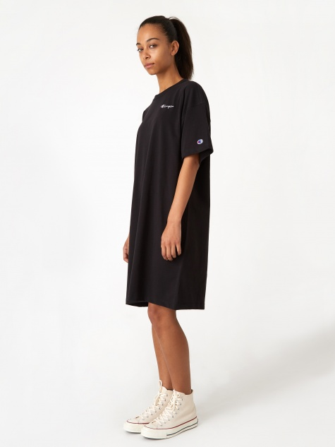 Reverse Weave Oversized T-Shirt - Black