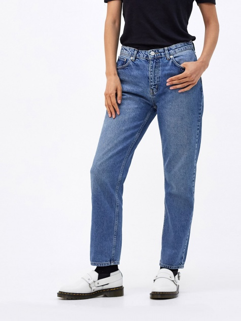 Eve Cropped Jeans - Classic Blue Vintage