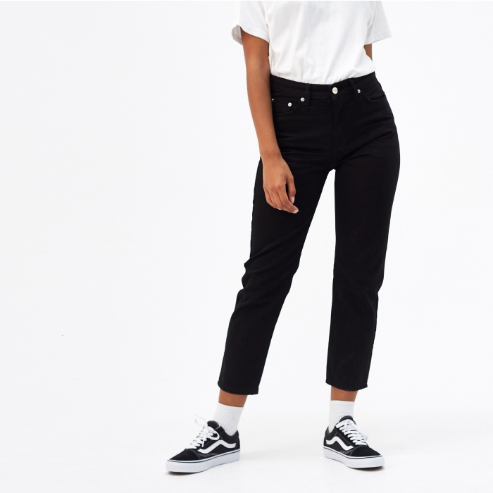 Wood Wood Eve Cropped Jeans - Black (Image 1)
