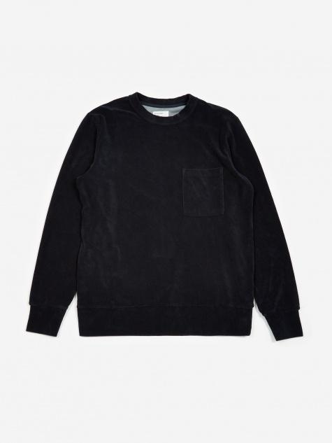 Loose Pullover Sweatshirt - Navy