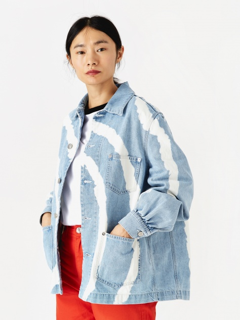 Blackstone Denim Jacket - Bleach Tie-Dye