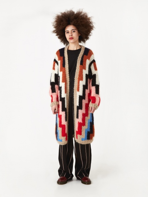 Julliard Mohair Cardigan - Multicolour