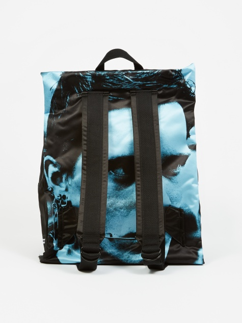 x Raf Simons Poster Padded Backpack - Black Sat Boy L B