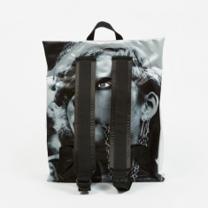 Eastpak x Raf Simons Poster Padded Backpack - Silver Sat Punk S