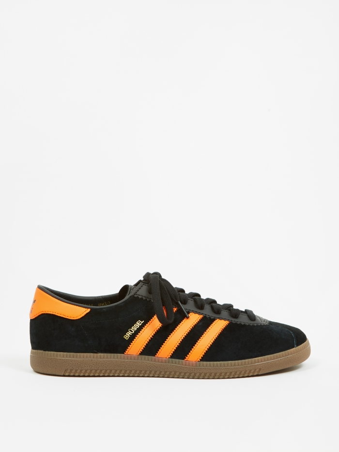 Adidas Brussels - Black/Orange/Gold (Image 1)
