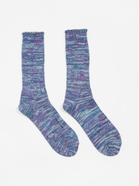 5ool Mix Crew Sock - Indigo/Purple