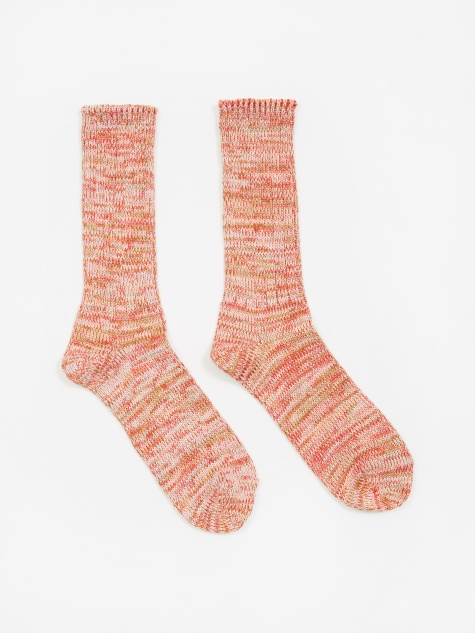 5ool Mix Crew Sock - Red/Pink