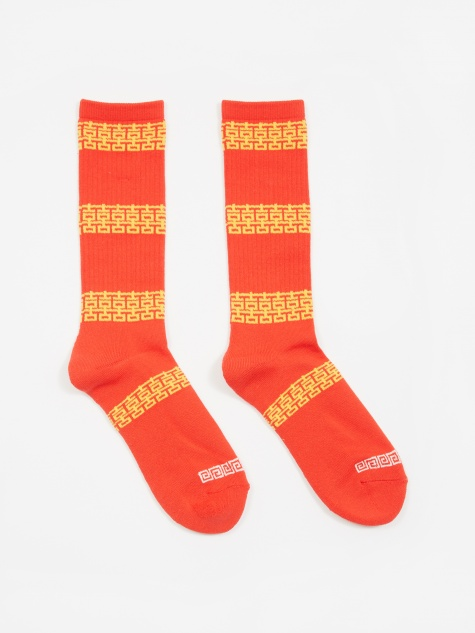 Happy Crew Sock - Red