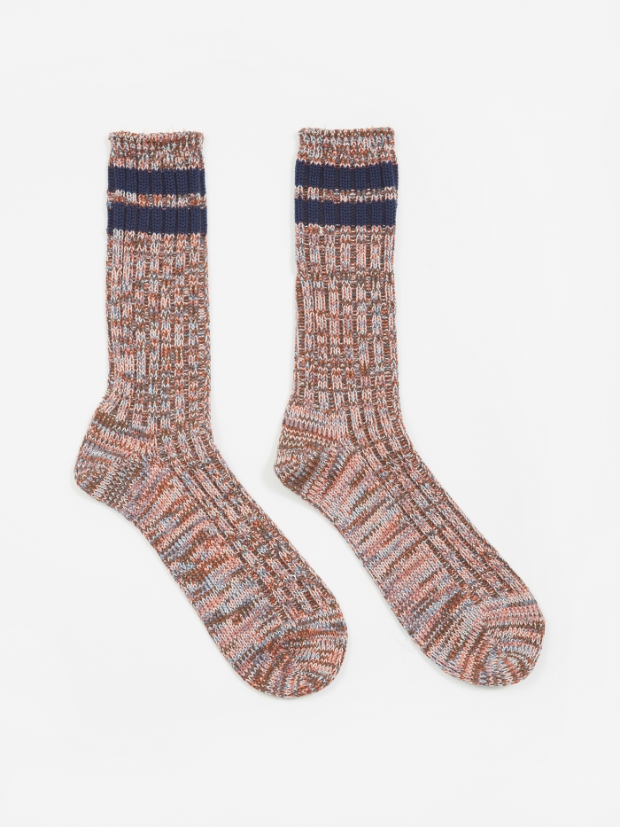 Anonymous Ism 2Line Mix Socks - Red/Blue (Image 1)