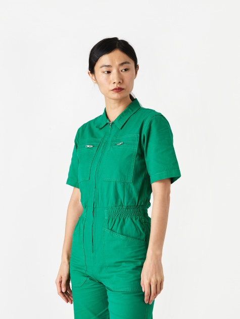 Danny Canvas Boilersuit - Green