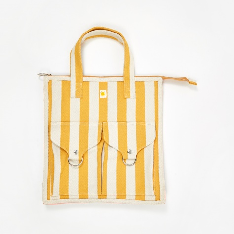 Striped Beach Bag - Yellow