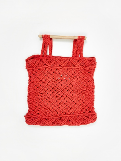 Macrame Bag - Vermillion