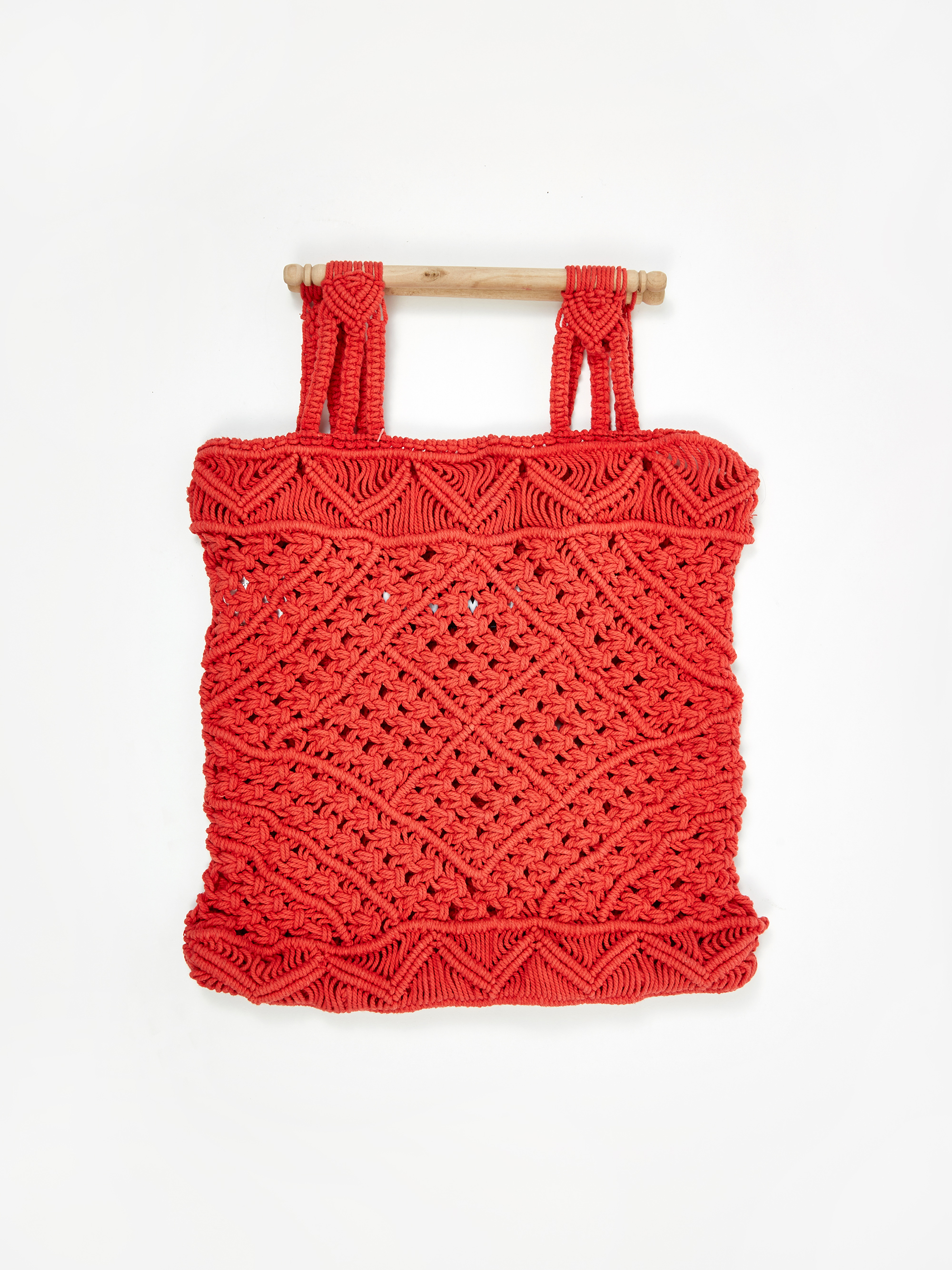 48f1f5064cef LF Markey Macrame Bag - Vermillion