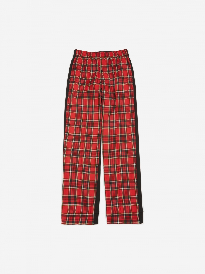 Undercover JohnUNDERCOVER Check Trouser - Red Check (Image 1)