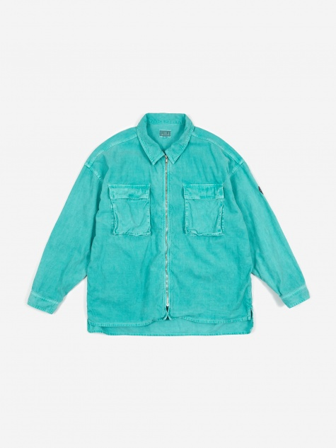 C.E Cav Empt Corduroy Zip Shirt Jacket - Green