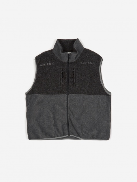 C.E Cav Empt Fleece Zip Vest - Grey