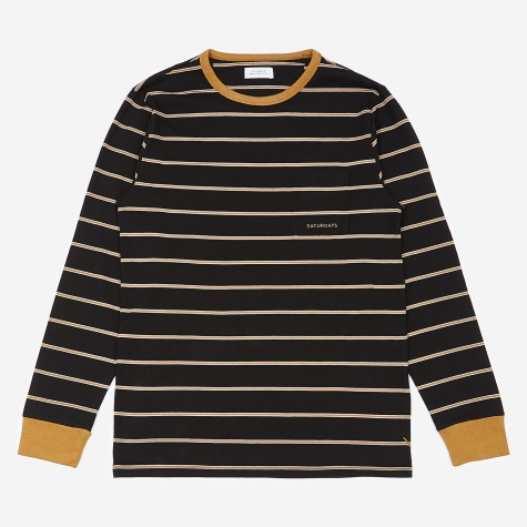 James Stripe Longsleeve T-Shirt - Black
