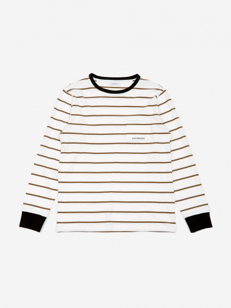 James Stripe Longsleeve T-Shirt - White