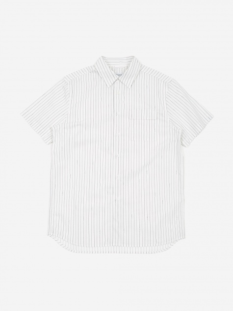 Nico Logo Stripe Shirt - White