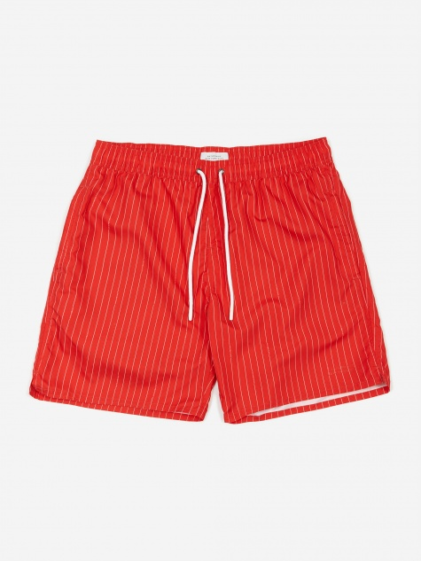 Timothy Logo Stripe Swim Short - True Red
