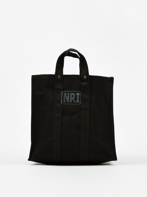 Labour Black Canvas Tote Bag - Small