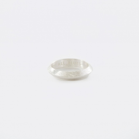 Triangle Ring - Brushed Silver