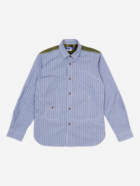 Junya Wantanabe MAN Stripe Shirt - Black/Navy/Whit